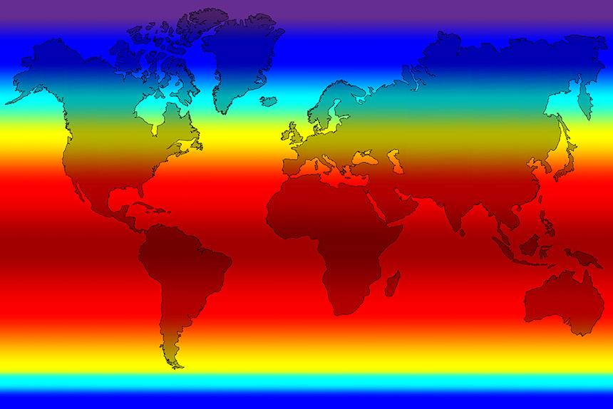 Temperaturkarte farbig