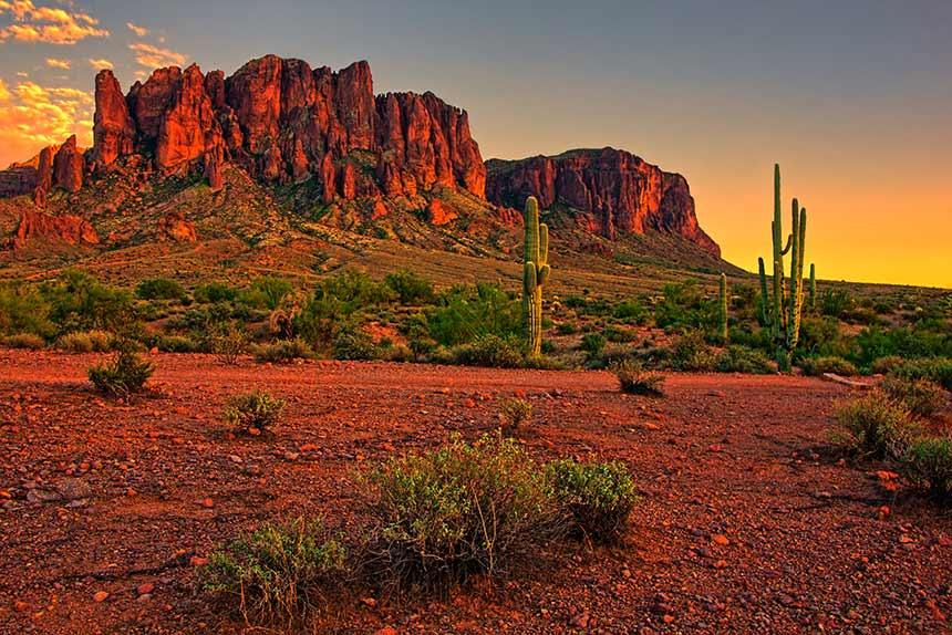 Arizona Sunset, Felsen