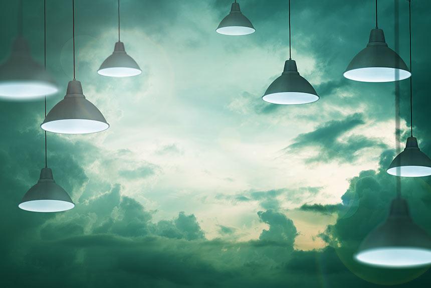 Lampen im Himmel